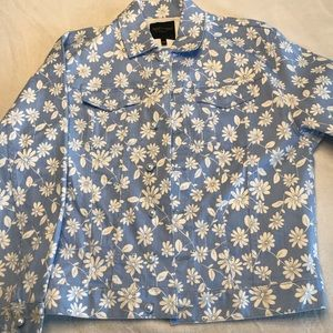 Juicy Couture Faux Pearl Daisies Denim Jacket (S)